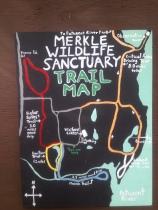 Merkle Wildlife Sanctuary Trail Map